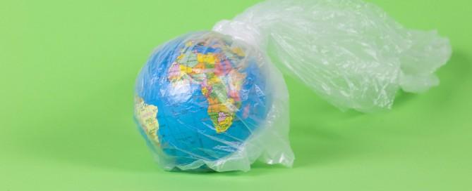 Earth in plastic bag